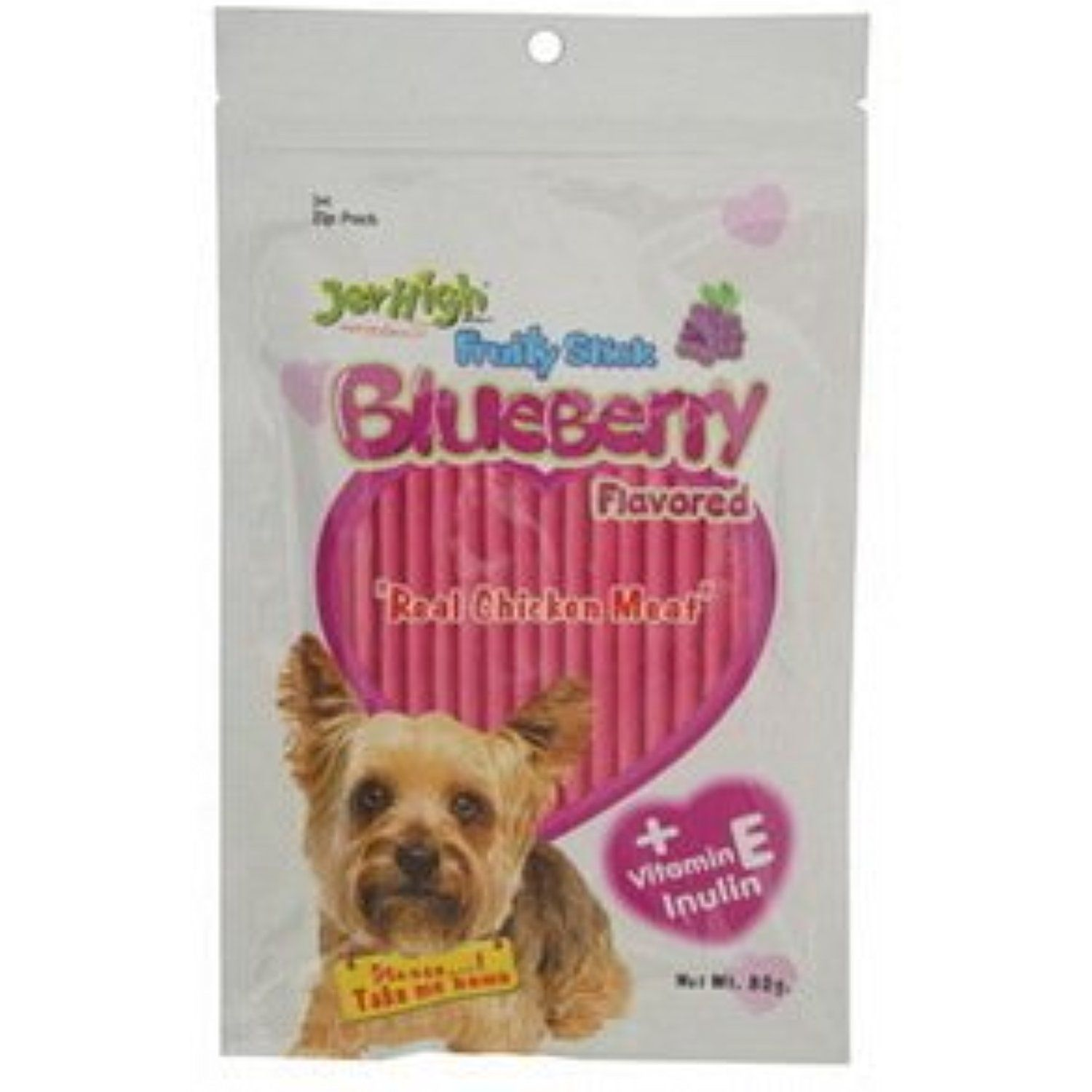 Jerhigh Snack Blueberry Stick 80g Dog 80g New Made From Thailand