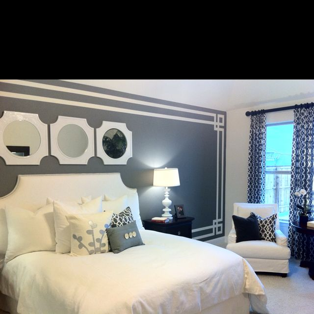 Bedroom Wall Paint Design Ideas Inspiration 5 Cool Painter's Tape Techniques  Painting Tools Bedrooms And 2018