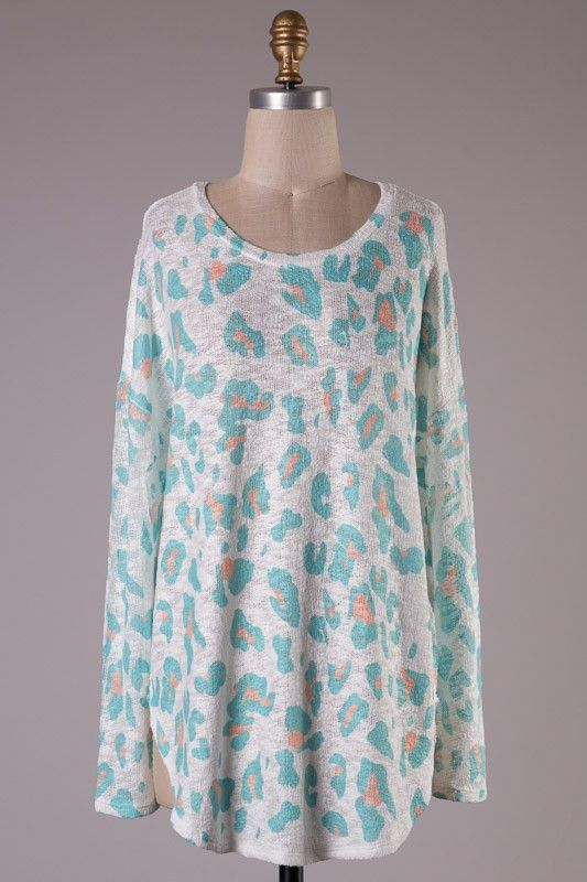 Cheetahlicious Tunic-Mint $40 with Free Shipping!