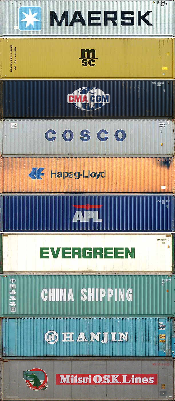 the top 10 container shipping companies  in order  amazing  i live in portland oregon and i u0026 39 ve