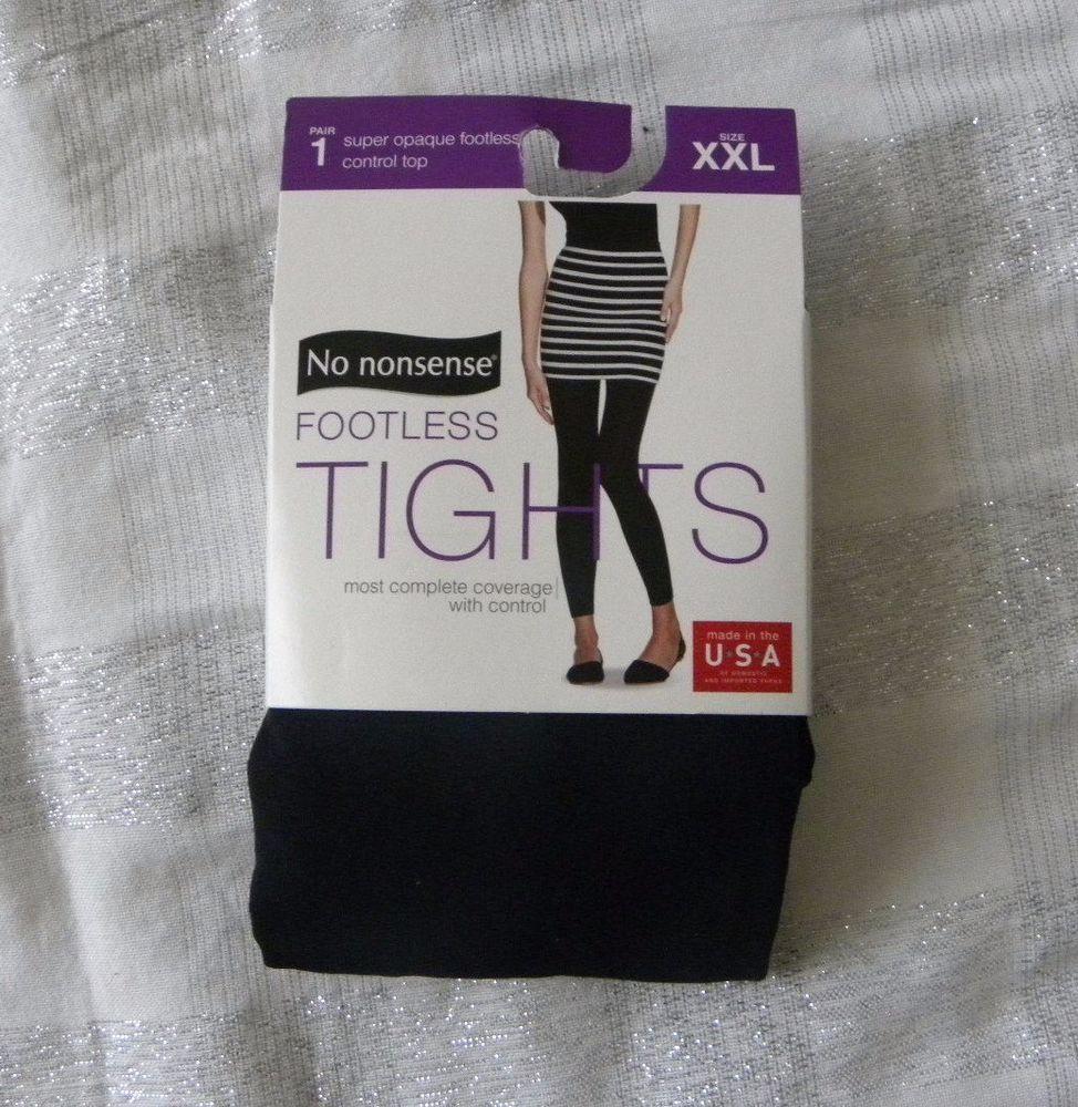 41f69dd8c0335 No nonsense Footless Tights Super Opaque Control Top Size XXL Black # Nononsense #Footless