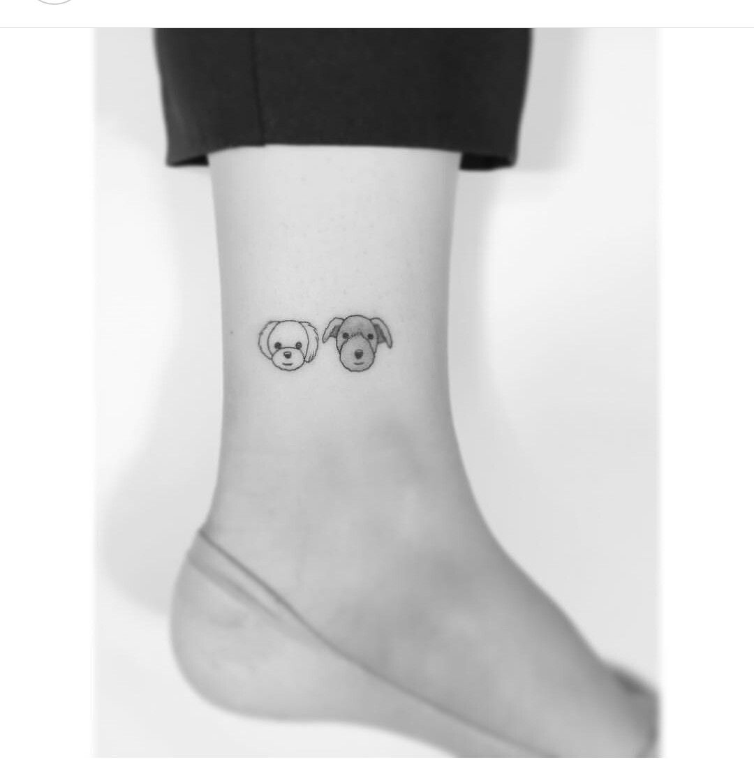 83 Awesome Y G Tattoos Cool Tattoo Designs: Tiny Dogs Tattoo