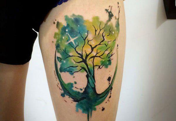 tatuajes-espacio arbol