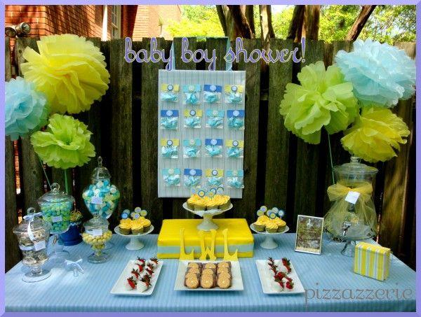 Blue \u0026 Yellow Baby Shower