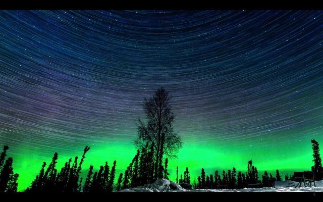 Northern Lights Time Lapse by Alexis Coram SFist.com
