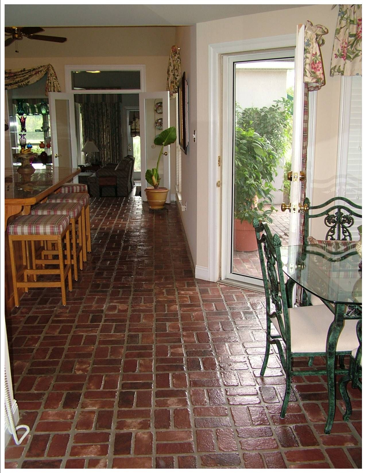 Amazing Amazing Interior Brick Pavers #6 Interior Brick Floor Pavers