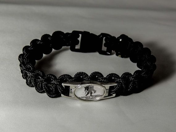 Wounded Warrior Project Paracord Black Bracelet By
