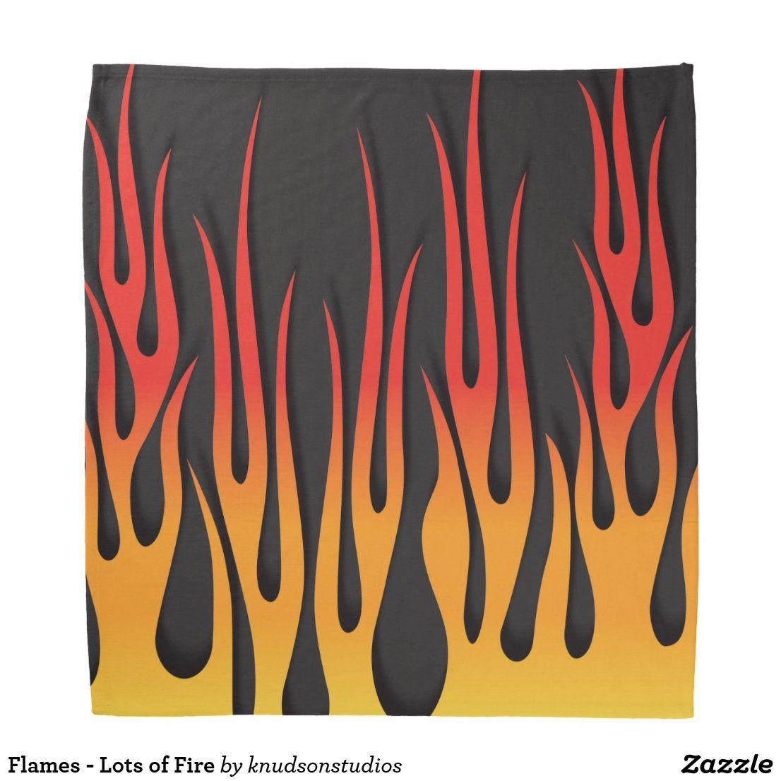SET OF 3 FLAME FLAMES BANDANA