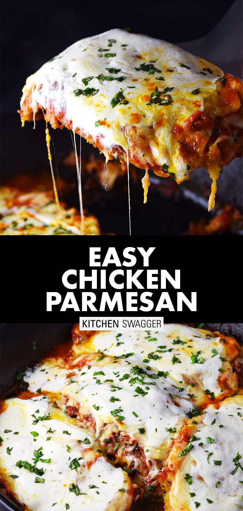 Photo of One-Skillet Chicken Parmesan Recipe