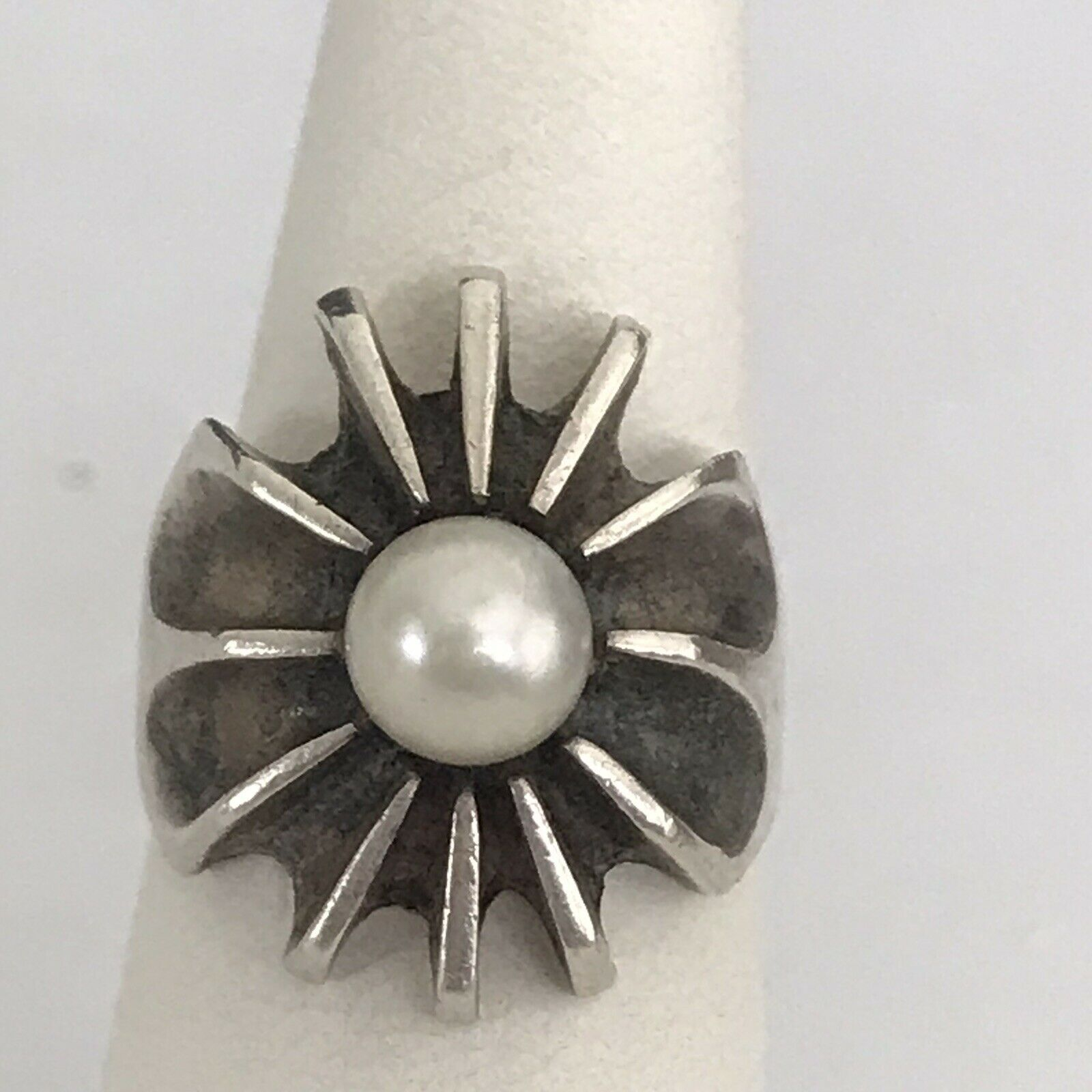 West Coast Jewelry Sterling Silver with CZ 7-8mm Freshwater Cultured Button Pearl Pendant
