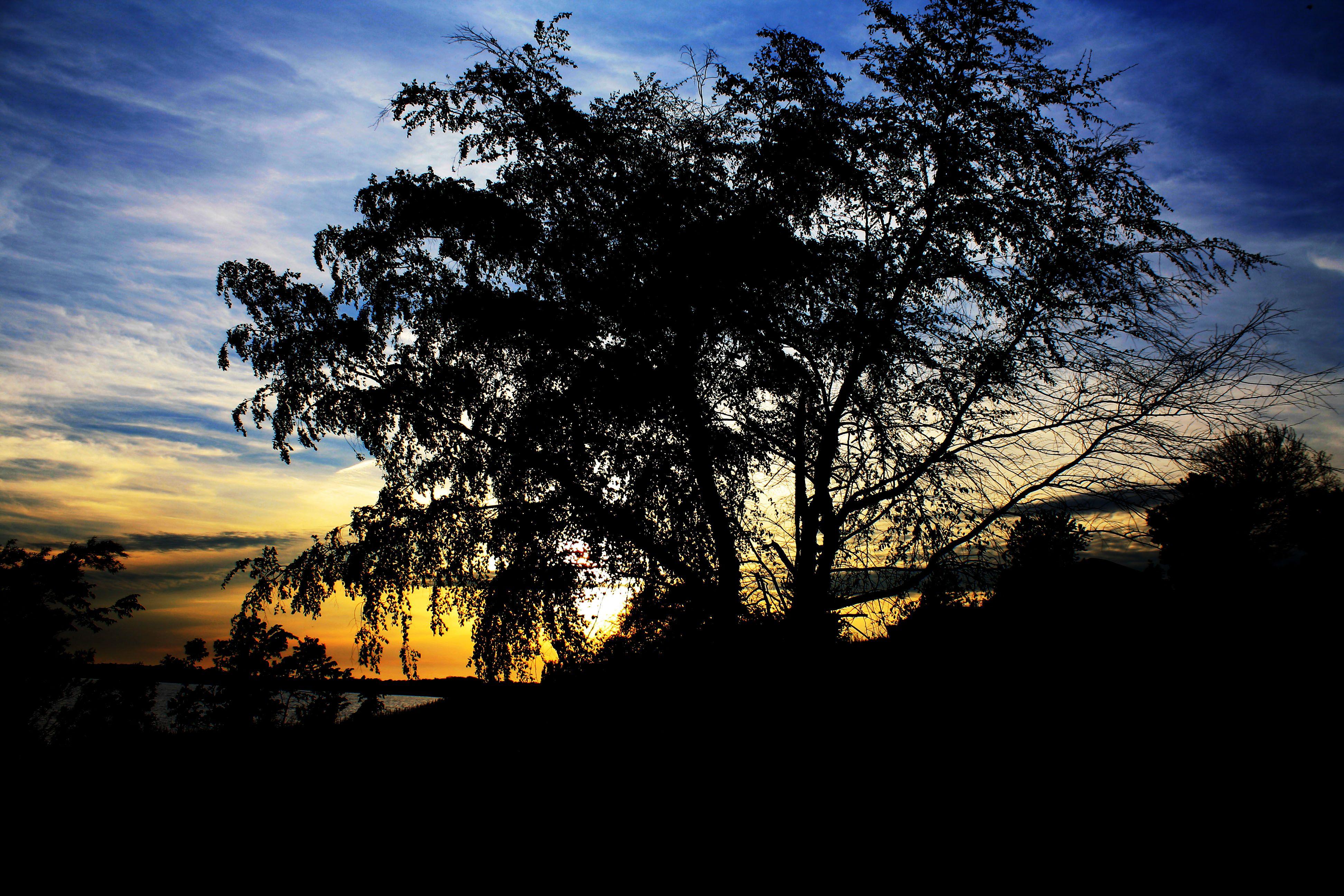 Sun set at Lake Carroll Sunset, Lake, Adventure