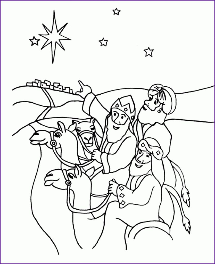 Wise Men Coloring Page Az Coloring Pages pertaining to Wise Men