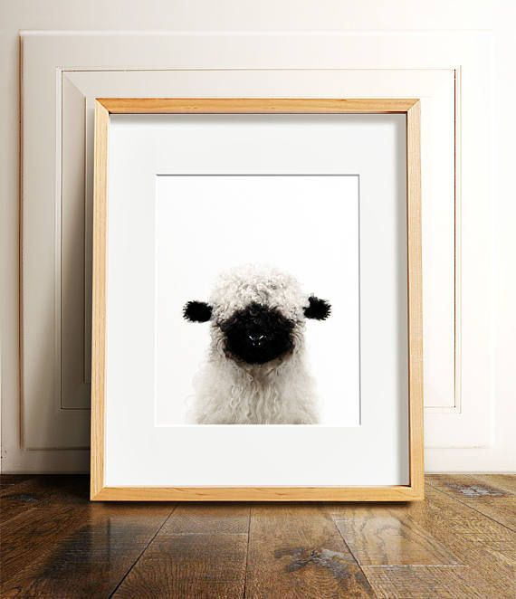 Nursery Decor Baby Animal Prints Lamb