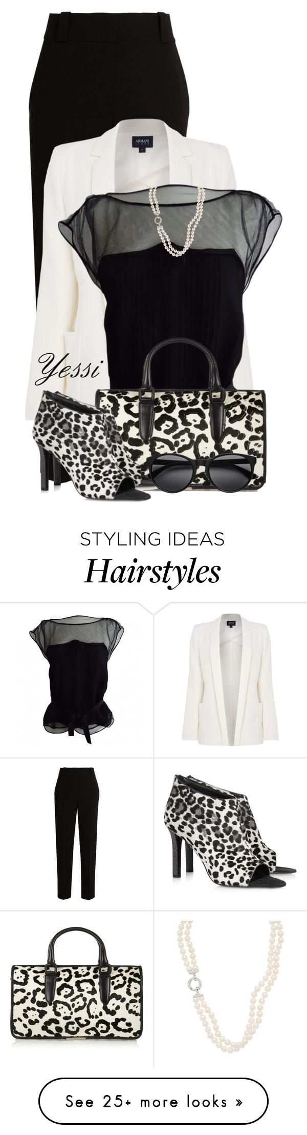 """~  Tamara Mellon Bag & Shoes  ~"" by pretty-fashion-designs on Polyvore featuring The Row, Armani Jeans, Louis Vuitton and Tamara Mellon"