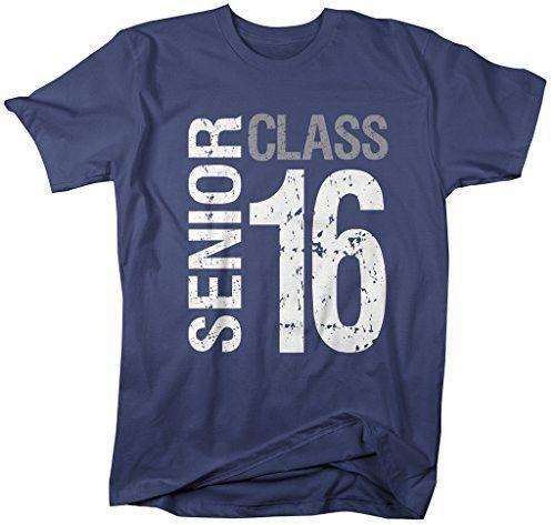 Shirts By Sarah Men's Senior Class T-Shirt 16 Shirts Seniors 2016 Distressed Tee