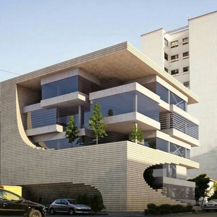 Pin de shadow office en villa modern pinterest for Fachadas de apartamentos modernos
