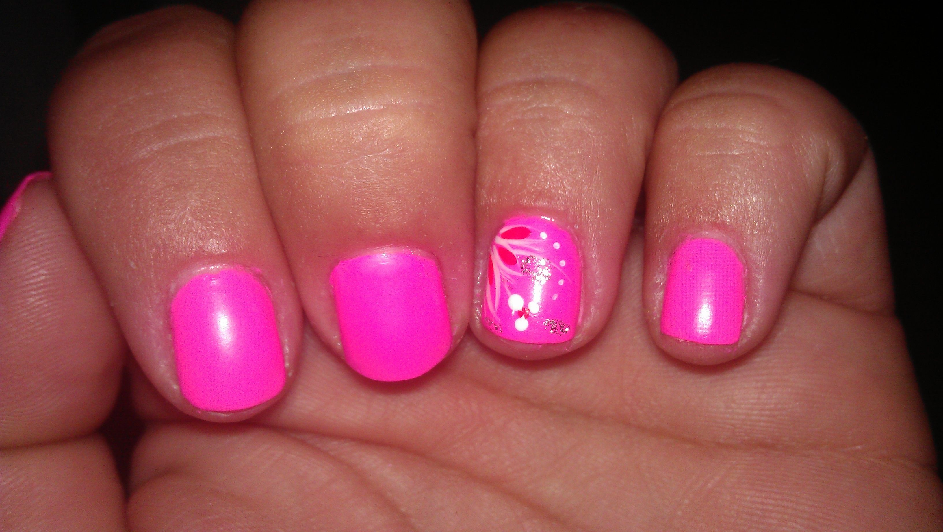 Neon Pink Nails for Summer. | Fab Nails | Pinterest | Neon pink ...