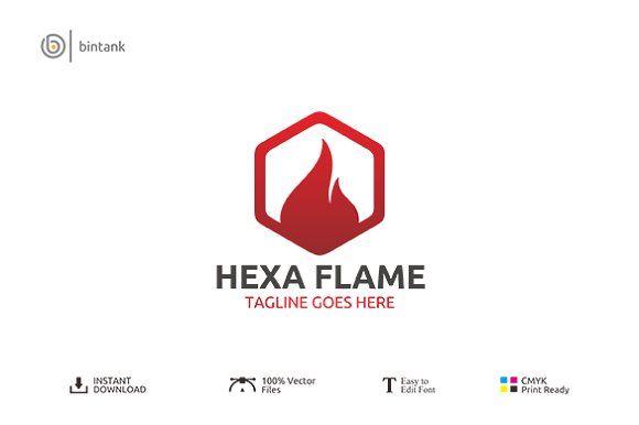 Hexa Flame Logo | Logo templates, Logos and Template