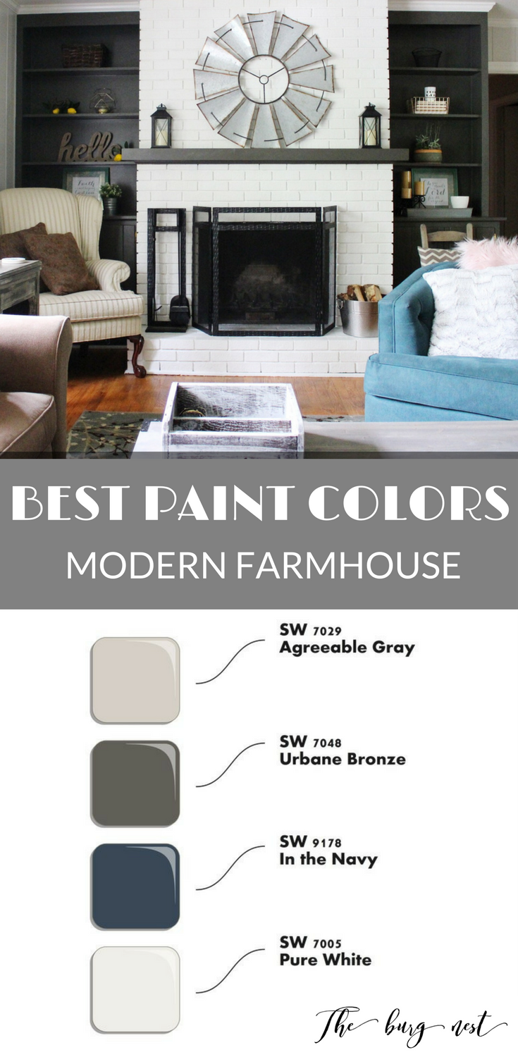 Farmhouse style, Sherwin Williams best paint colors for a
