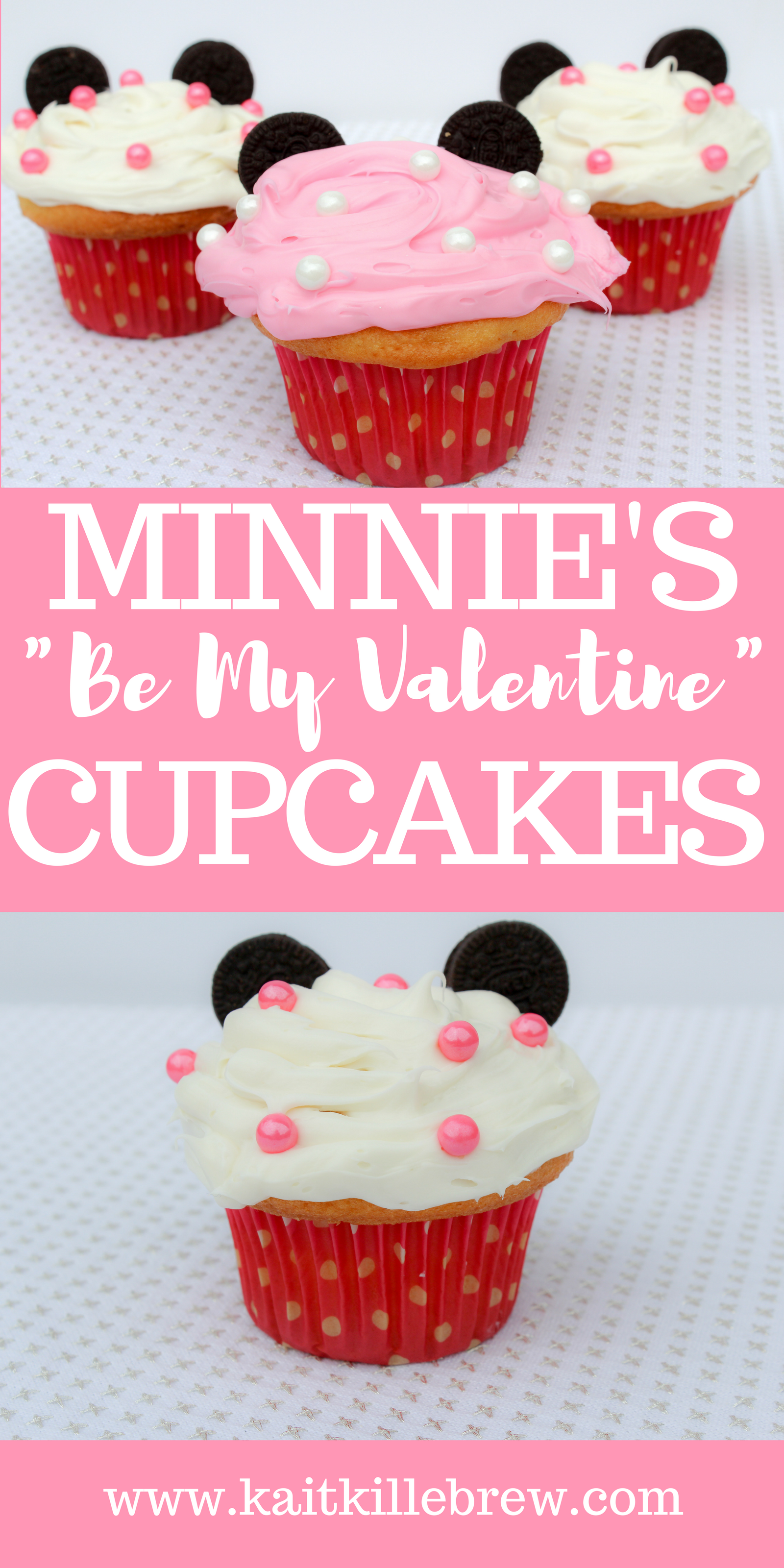 Disney Desserts | Disney DIY | Disney Recipes | Disney Treats | Disney Valentine's Day Treats | Rock the Dots | Rock the Dots Cupcakes | Minnie Inspired Cupcakes | Minnie Inspired Dessert | Minnie Mouse Recipes | Fun Valentine's DIY | Disney Lifestyle | Disney Blogger | Kait Around The Kingdom | @kaitkillebrew