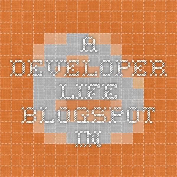 a-developer-life.blogspot.in