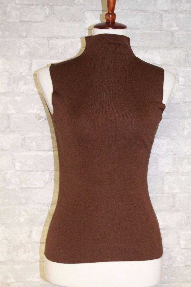 546b9392323ab Yansi Fugel Women s Top Stretch Sleeveless Turtleneck Shell Brown Size XS   YansiFugel  Turtleneck  Fashion  ForSale
