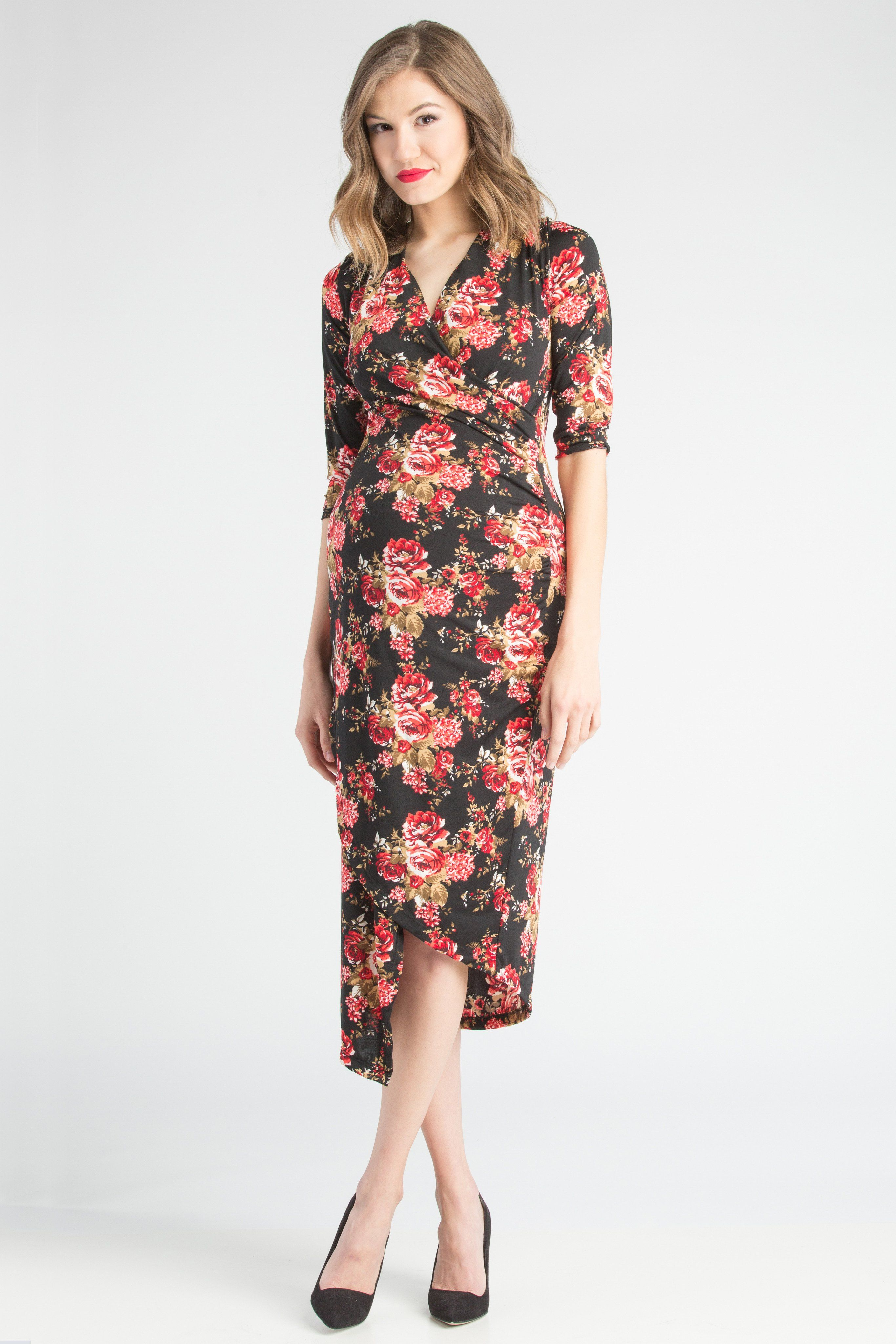 Carly dress blackred floral products