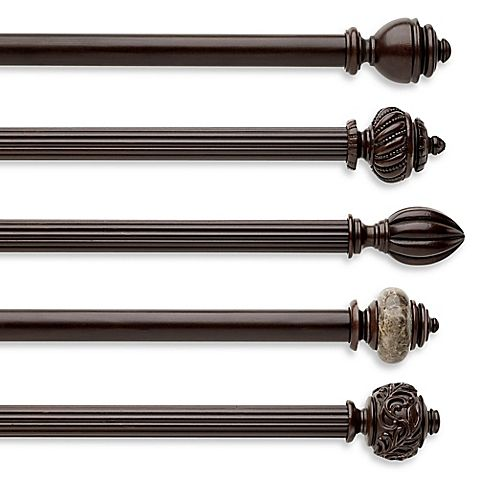 This Attractive Cambria Chocolate Wood Curtain Rod Decorative Window Curtain Hardware Brings The Beauty Of Nature In