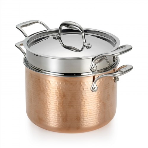 249.99$  Buy now - http://viybq.justgood.pw/vig/item.php?t=ysxix012965 - Lagostina Martellata Tri-Ply Hammered Copper Pastaiola Set 249.99$
