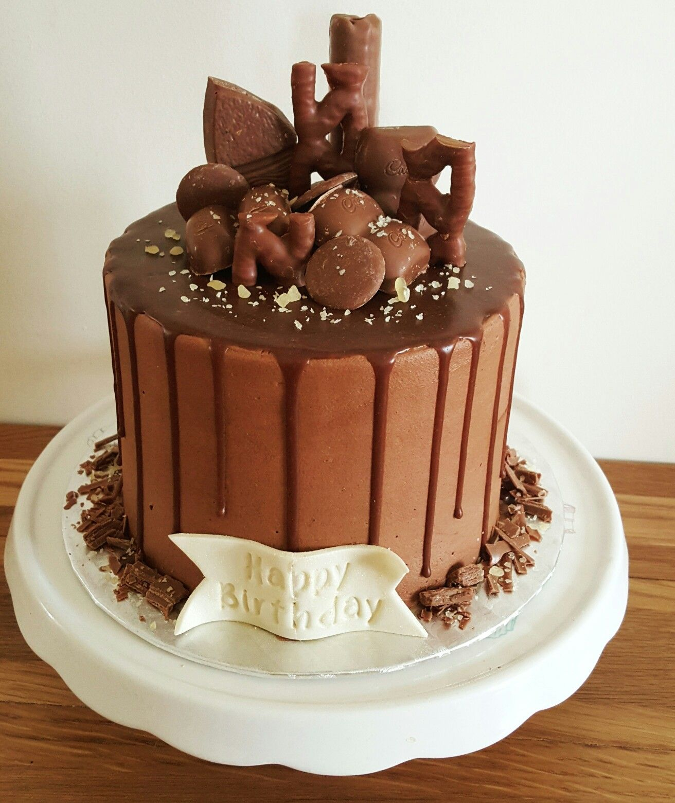 Chocolate Drip Cake With Images Easy Kids Birthday Cakes Cool