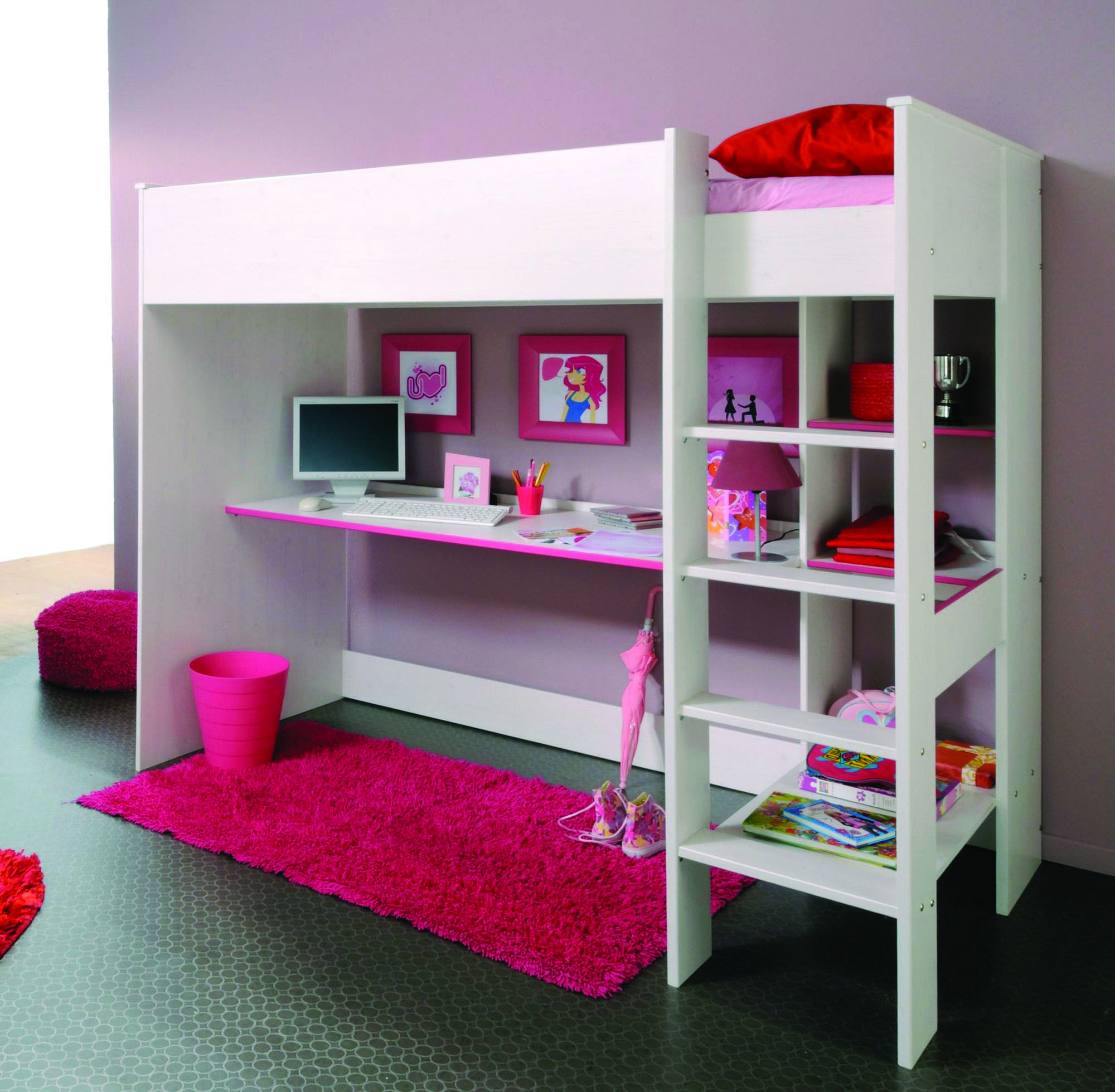 IKEA Bunk Beds   Bunk bed with desk, Ikea bunk bed, Girls ...