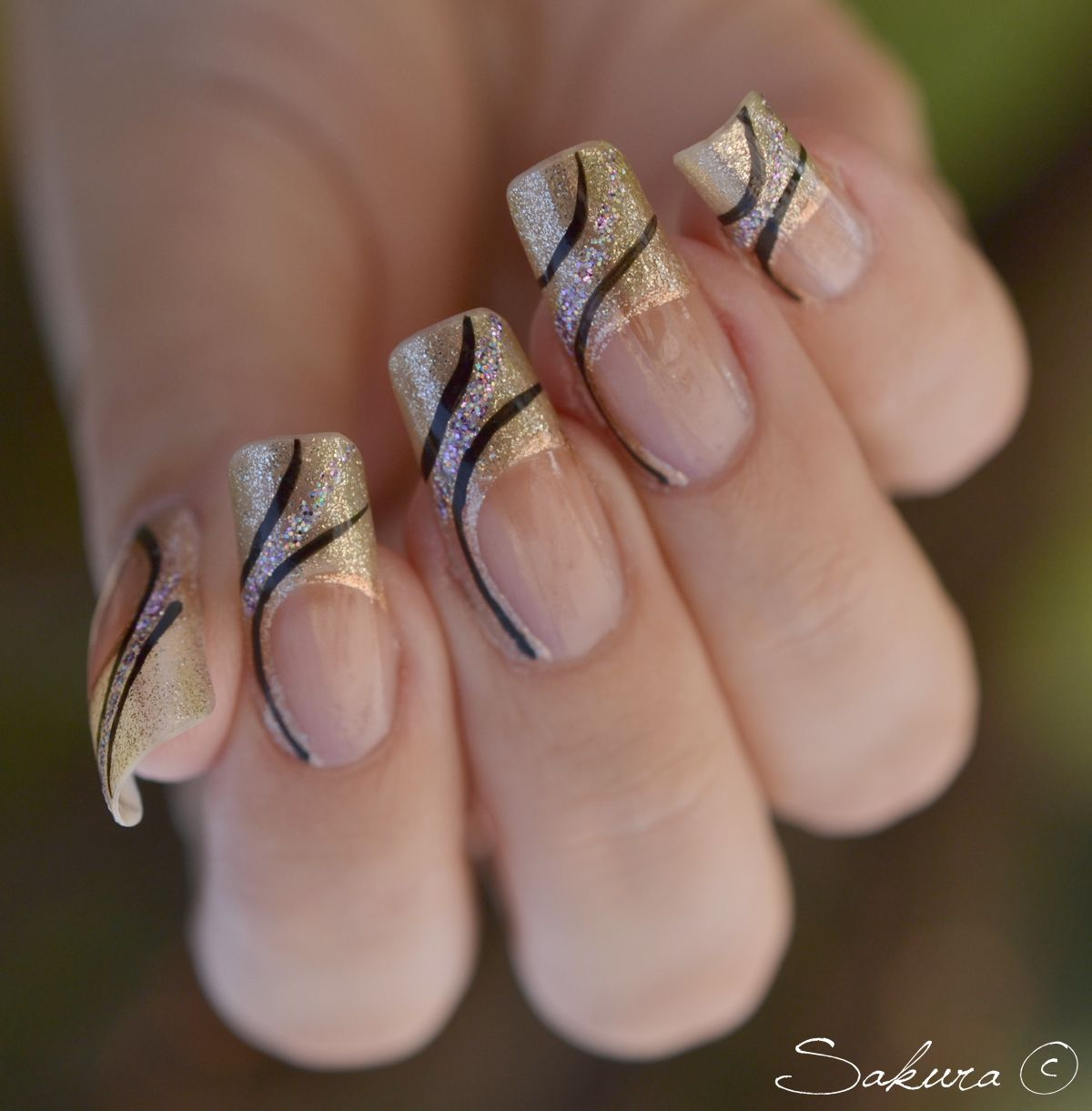 Nail Art French Paillettes | Nail art galleries, Art nails and Long ...