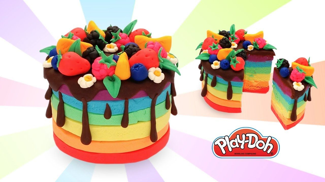 Play Doh Rainbow Cake Easy Cake For Kids Diy How To Make Play