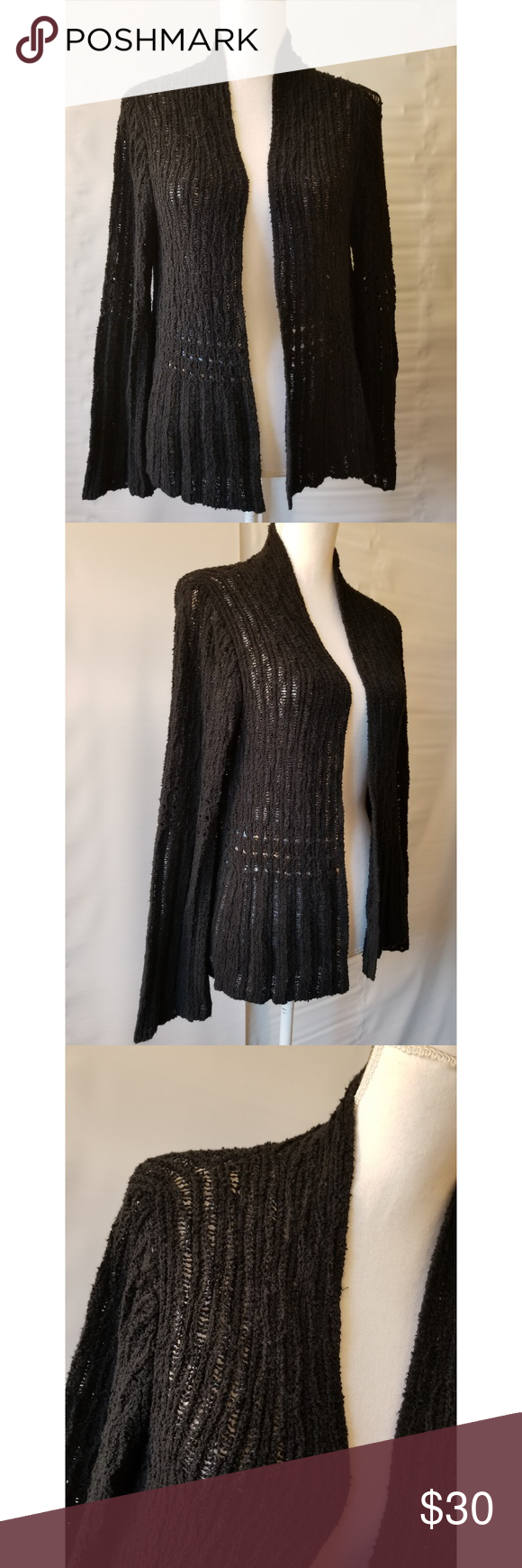 d75acab71e Peruvian Connection knit open front duster medium This soft sweater is a  size medium 100%