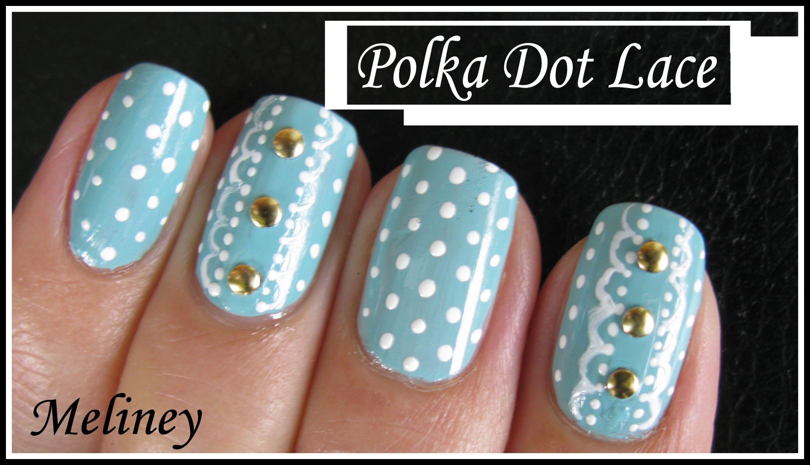 Polka Dot Lace Nail Art Design Retro Vintage Nail Tutorial