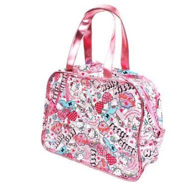 54b3ec9fc7a2 Hello Kitty Clear Vinyl Tote Handbag Bag Cherry Sanrio Japan Exclusive
