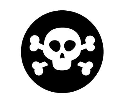 Skull Crossbones Icon In Android Style Skull And Crossbones Crossbones Icon