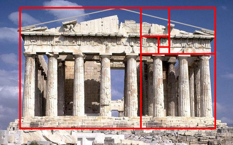 parthenon uses the golden ratio in architectural design beauty