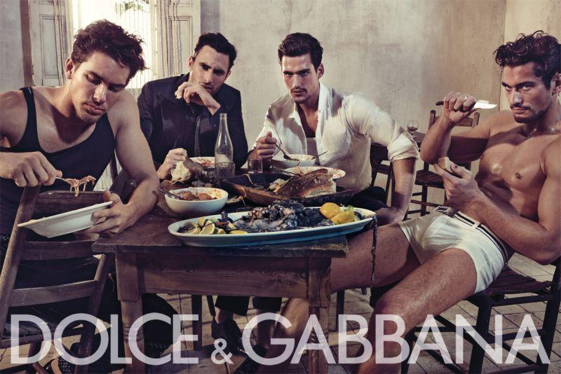 8f9b53e55c41b Dolce   Gabbana Spring 2010 Campaign   Adam Senn, Noah Mills, Sam Webb    David Gandy