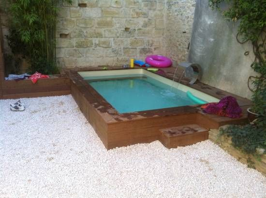 4 x 2 5 m nage contre courant piscine pinterest for Piscine bois rectangulaire 4x2
