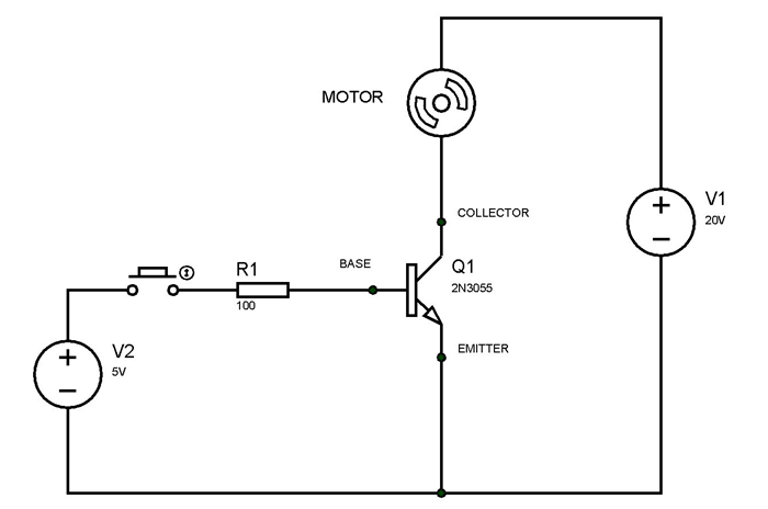 transistor wiring diagram 2n3055 transistor circuit  with images  transistors  common  2n3055 transistor circuit  with images