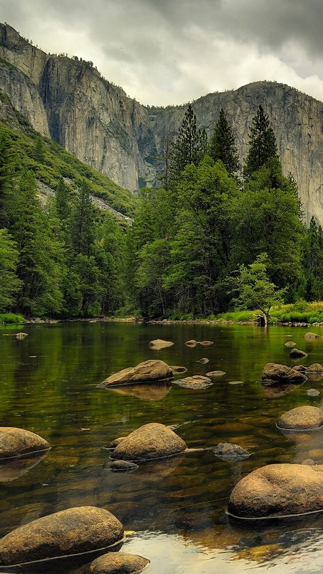 Beautiful Nature.. Mountains.. Water, rocks, trees
