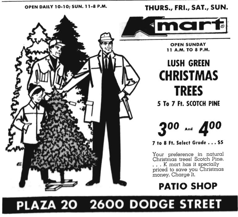 Kmart 1968 Christmas Trees