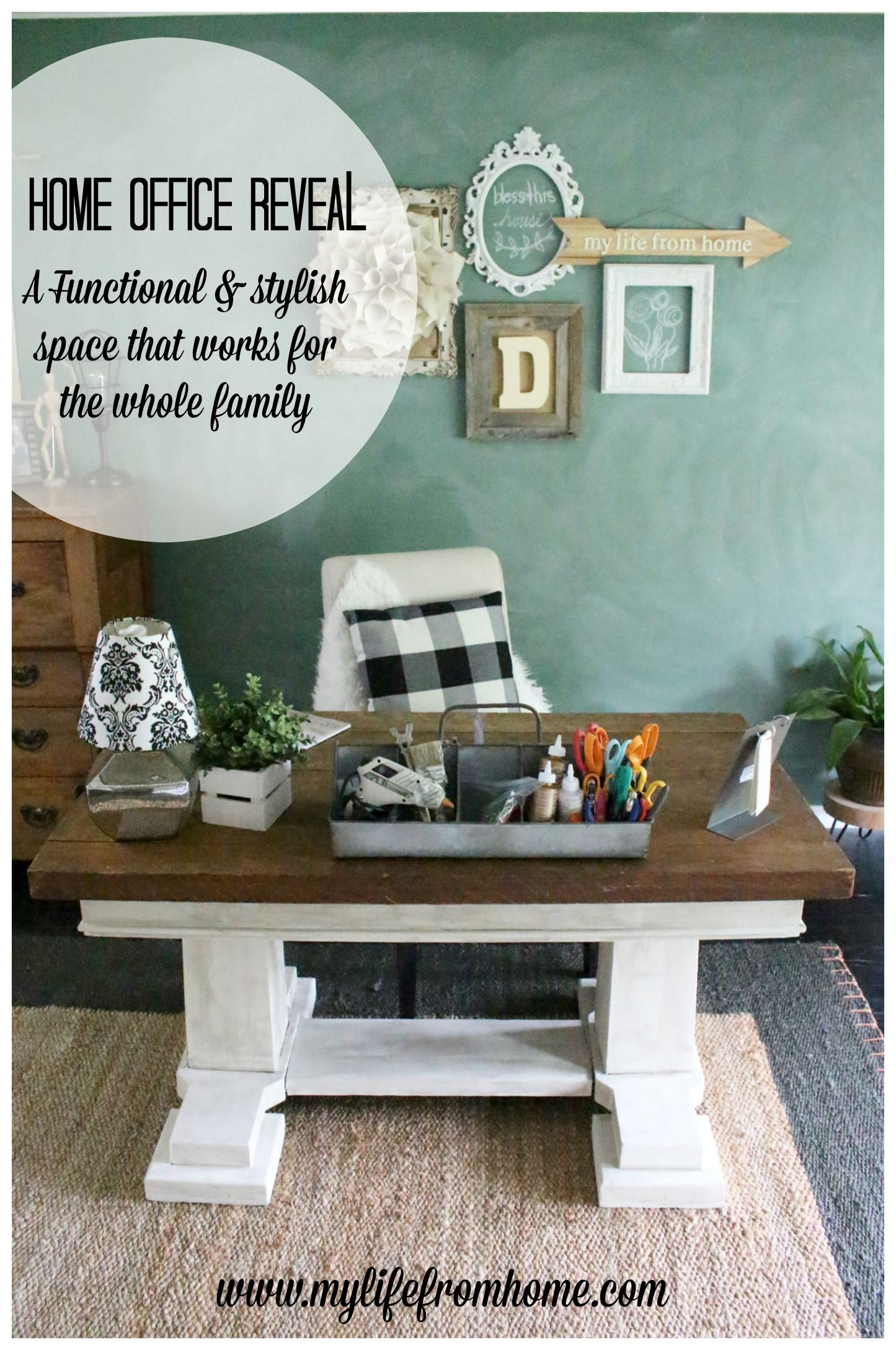 Home Office Reveal Functional And Stylish Craft Room Space