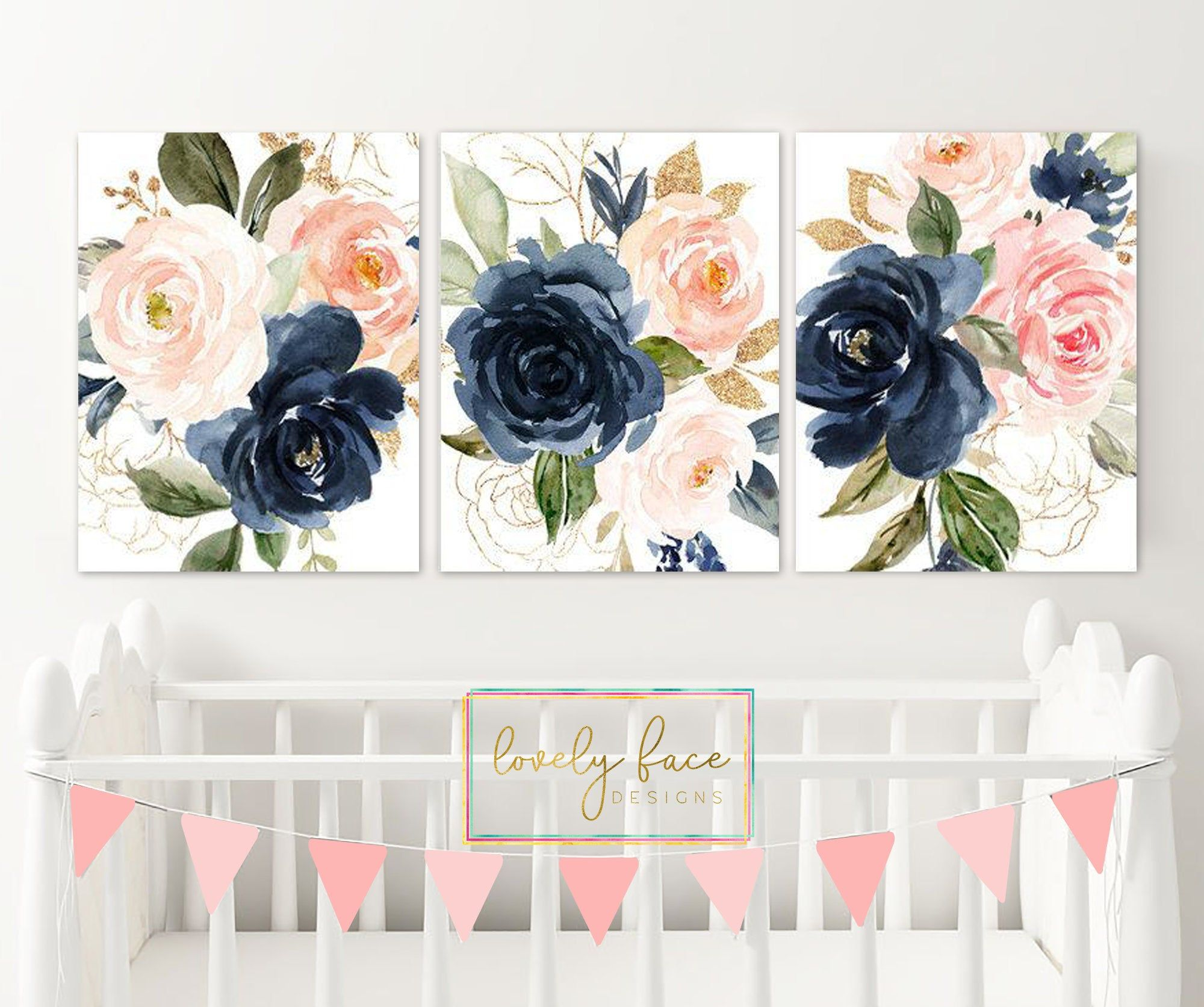 Watercolor Floral Wall Art Watercolor Flower Art Boho Girl Etsy Watercolor Floral Nursery Floral Wall Art Floral Nursery