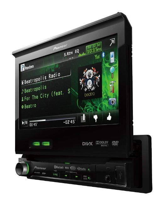 Pioneer Avh P6300bt 7 Inch In Dash Dvd A V Receiver With Ipod Iphone Control Bluetooth And Pandora Car Stereo Systems Car Audio Systems Stereo Systems