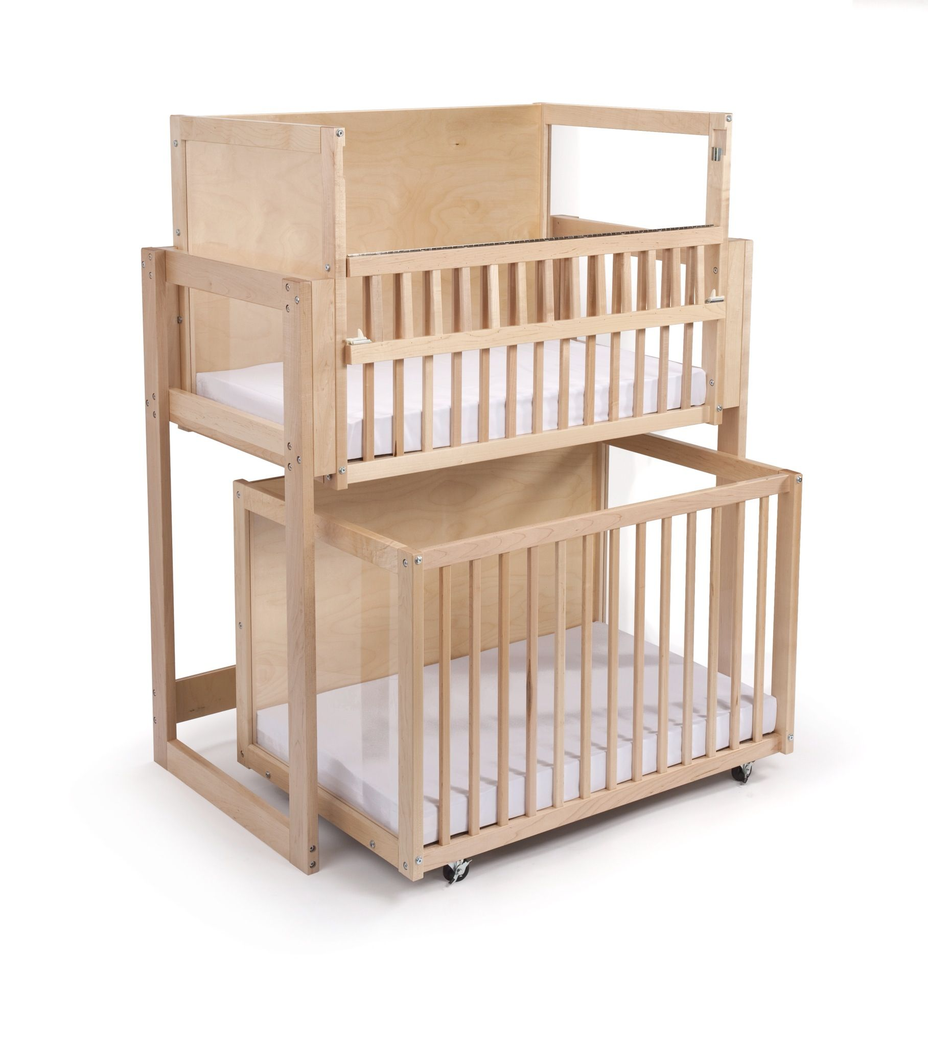 Double Decker Bunk Bed Stacked Cribs Must Save Space