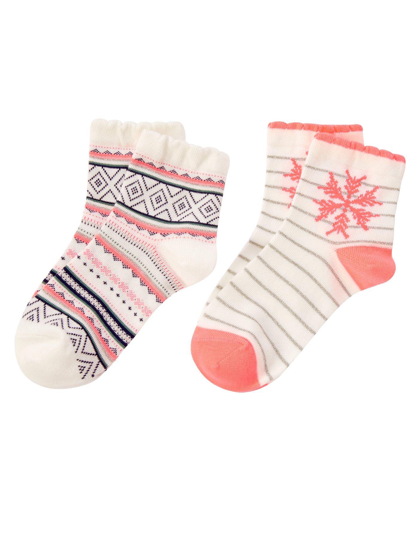 Fair Isle & Snowflake Socks Two Pack at Gymboree Gymboree 3 12y