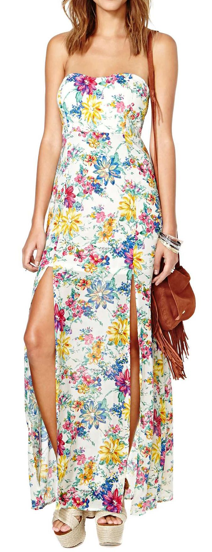 Floral maxi | Vestidos elegantes, Vestidos largos ...