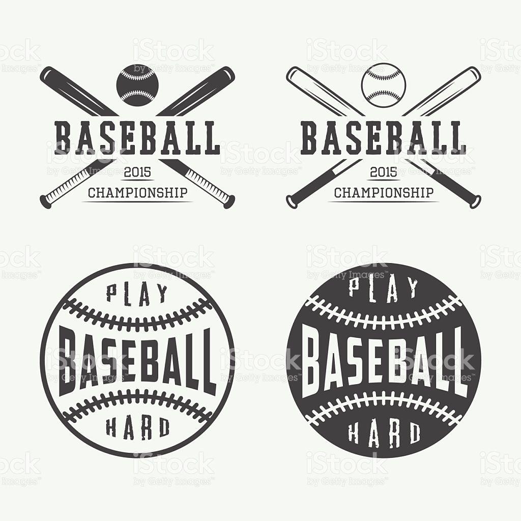 Logotipos de béisbol Vintage, emblems, señales y elementos